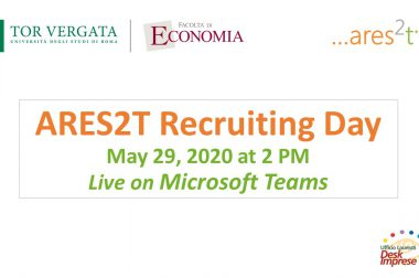 Ares2t Recruiting Day – 29 May at 2pm